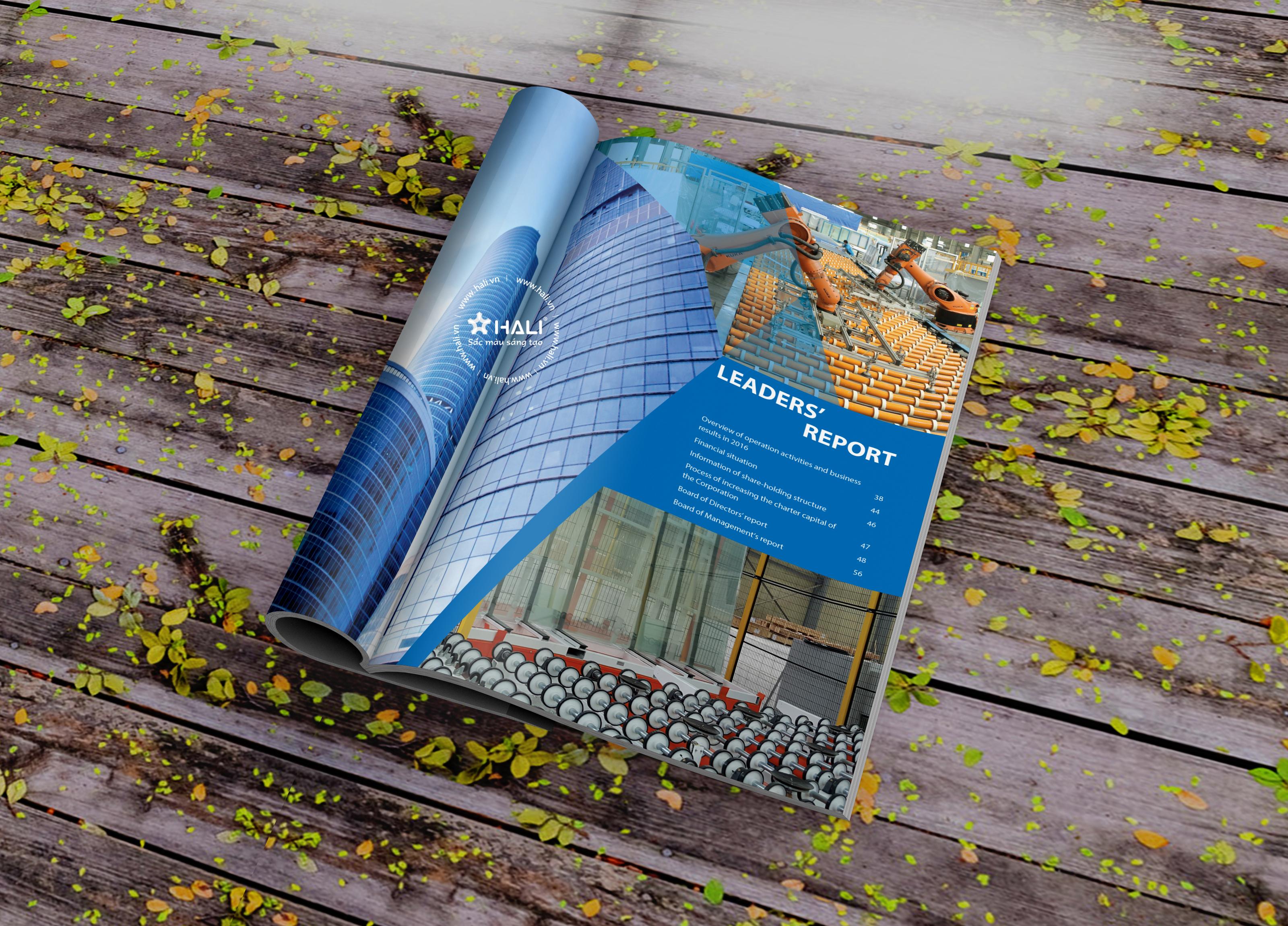 thiết kế báo cáo thường niên 2018