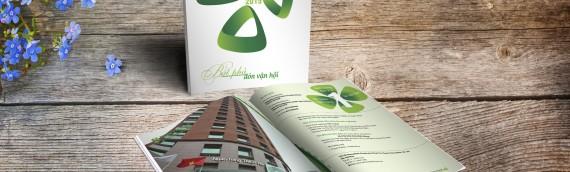 Mẫu thiết kế Báo cáo thường niên Ngân hàng Vietcombank 2015